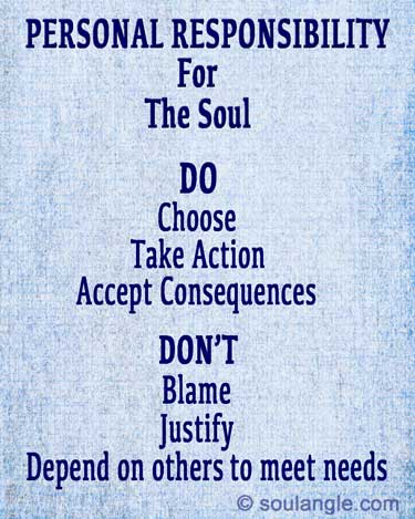 Personal Responsibility for the soul- Do's and Don'ts