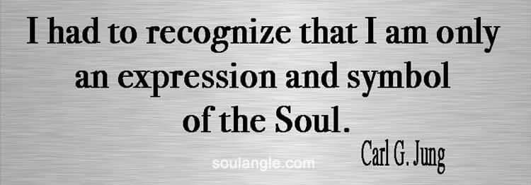 Carl G. Jung quote on what he truly is: A soul as a human being.