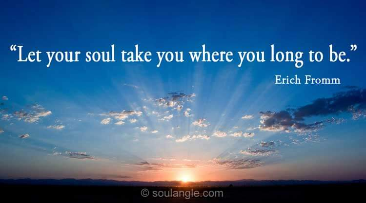 Soul Quote by Erich Fromm about following your deepest instinct