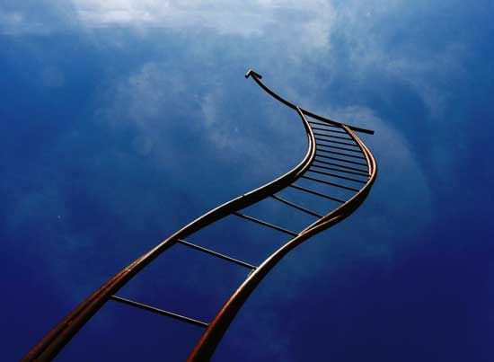 Finding dream meaning for climbing a ladder towards heaven